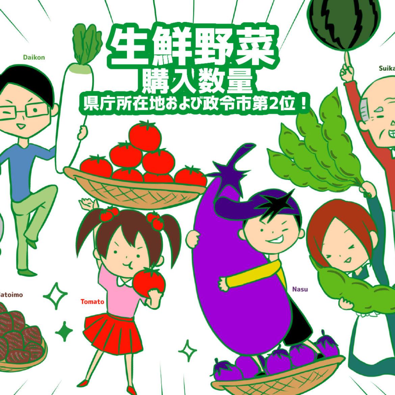 新潟市民は野菜好き