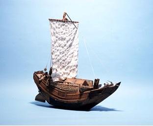 金刀比羅神社奉納模型和船