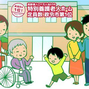 高齢者人口1万人当たりの特別養護老人ホーム定員数 政令市第1位